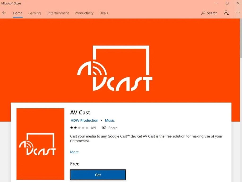 Cast to ChromeCast app