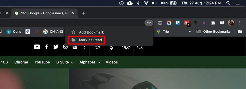 Chrome Mark as Read