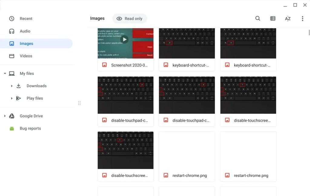 Files App - Chromebook