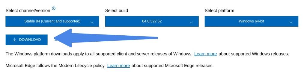 Edge offline installer