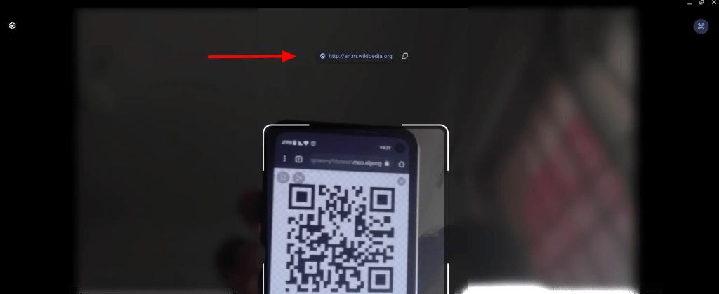 QR Code on Chromebook Camera