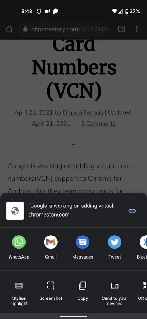 Chrome Stylise Highlight - Share