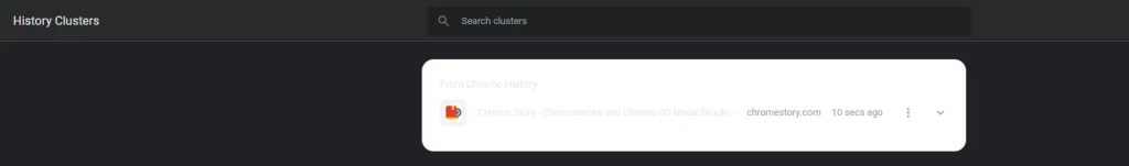 Chrome History Clusters