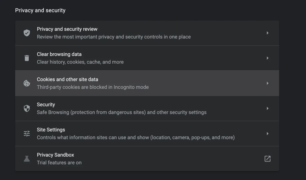 Privacy and security review - Chrome