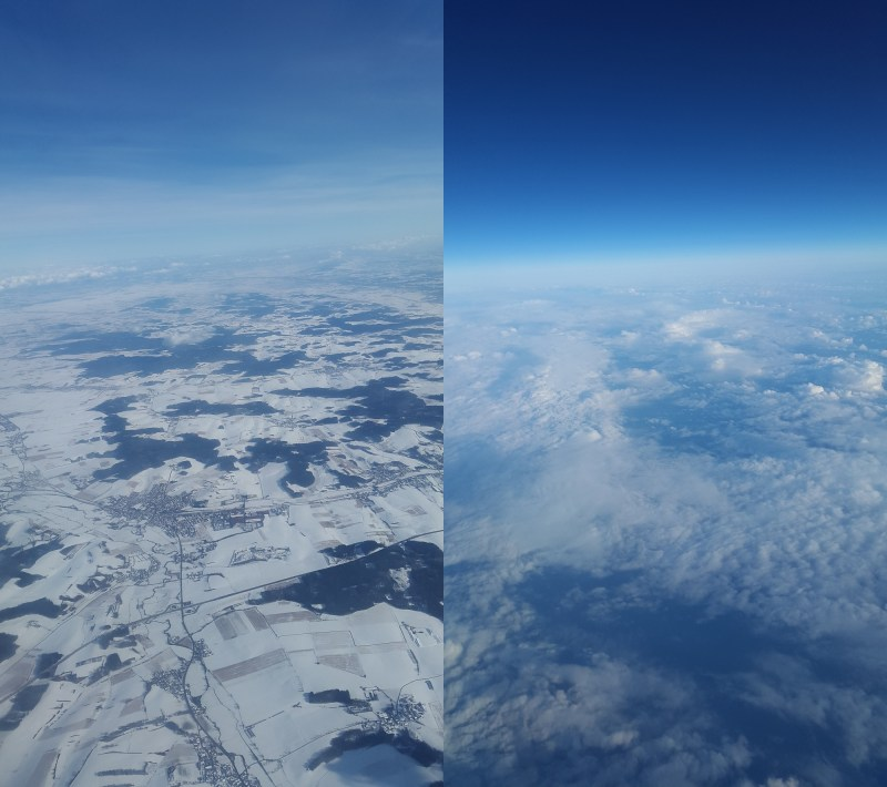 flying over europe from munich to stockholm