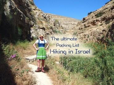 Israel Hiking Packing List