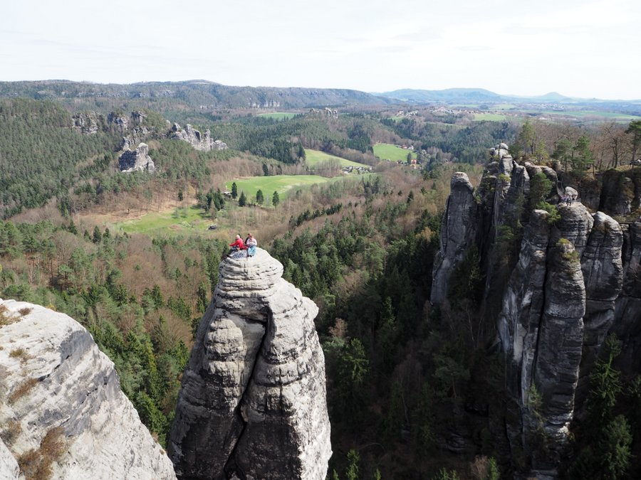 saxon switzerland climbers