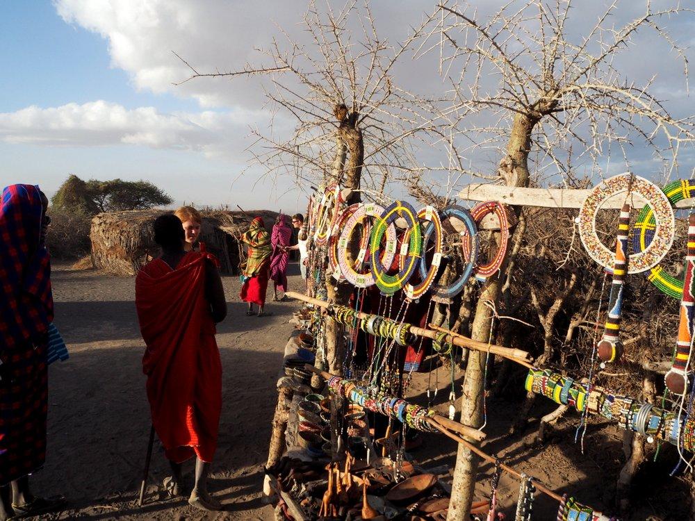 Masai Village Gift shop Tanzania