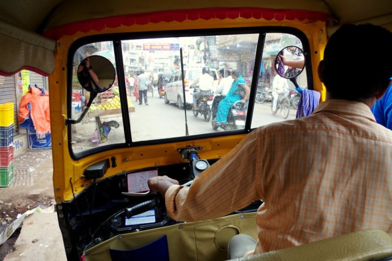 Tuktuk madness in New Delhi