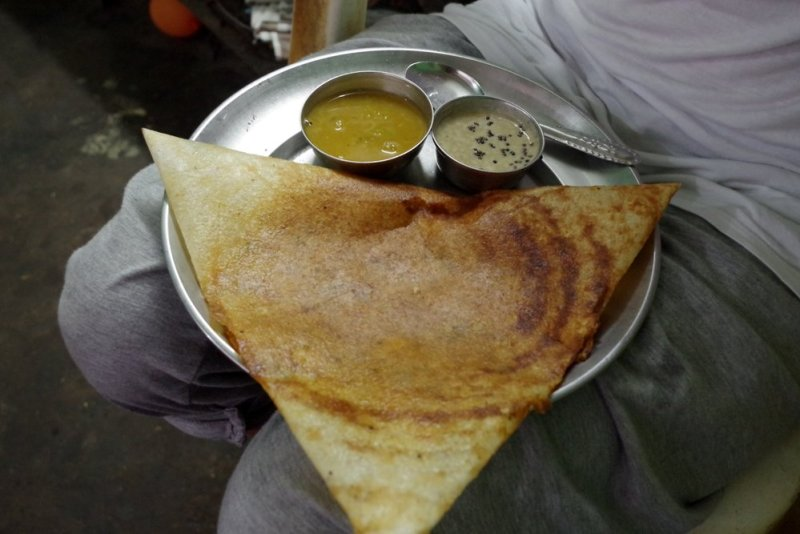 masala dosa ready to be enjoyed
