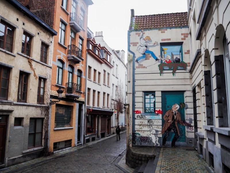 Brüssel Comicbuchwände