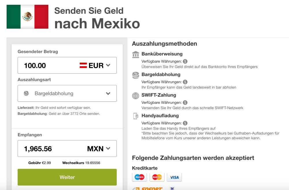 Azimo Mexiko