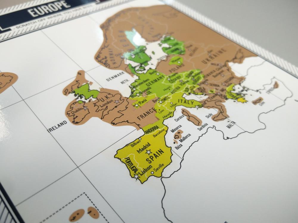 Scratchmap klein karten