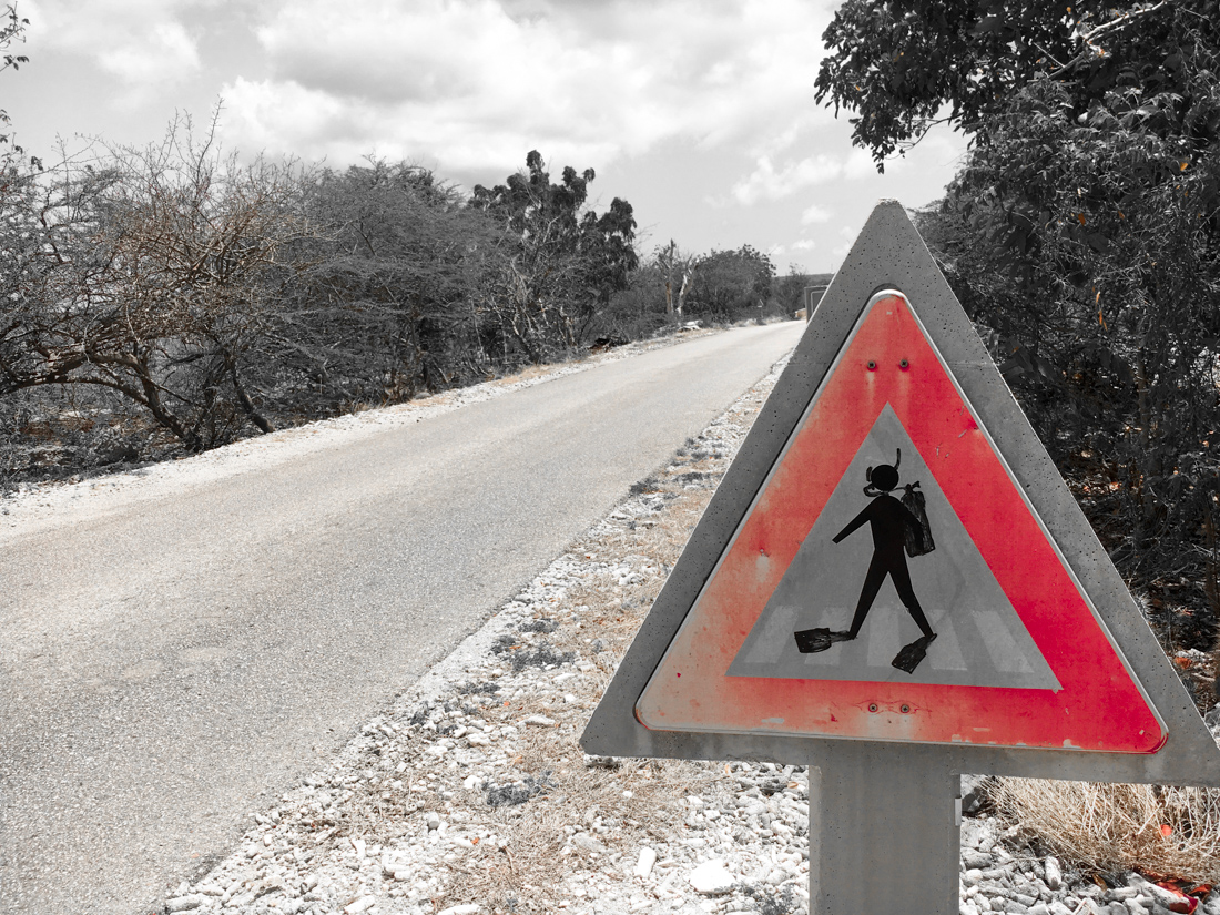 Bonaire achtung taucher