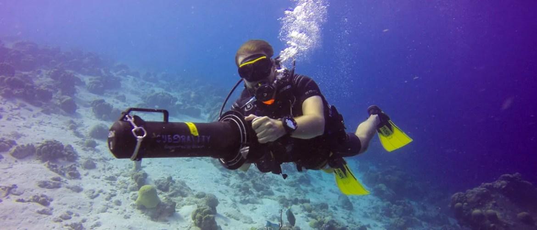 Unterwasserscooter auf Bonaire