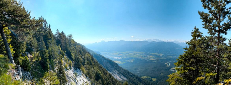 Dreiländerblick Panorama Villacher Alpenstrasse