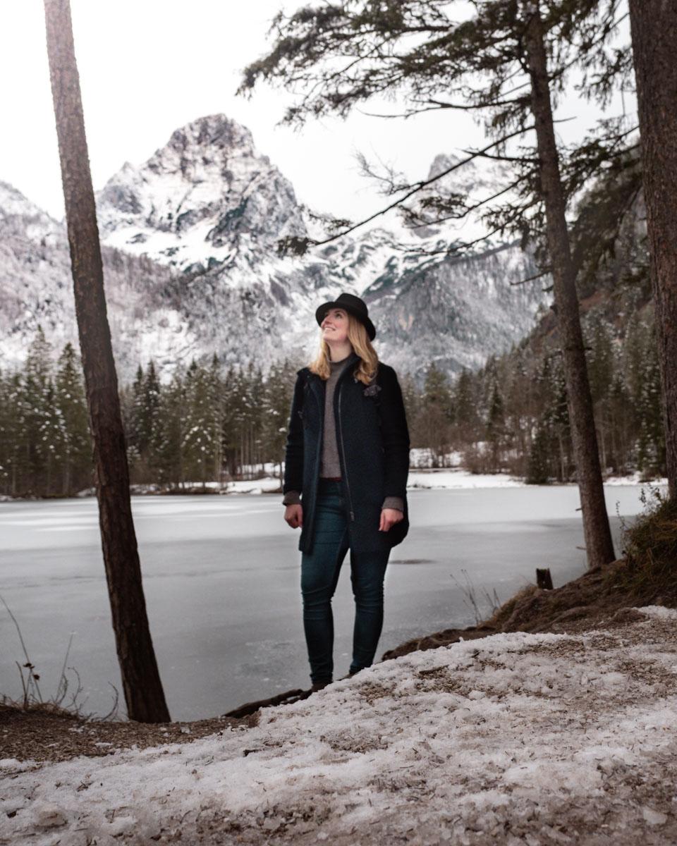 Winter Schiederweiher Spaziergang