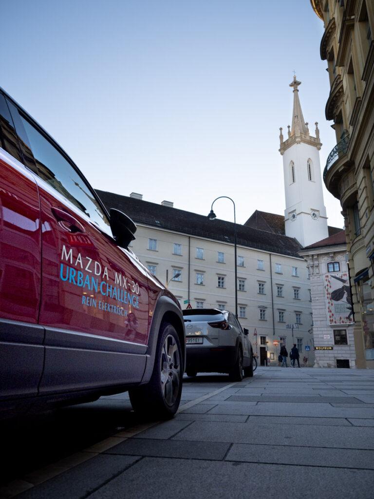 Mazda MX 30 Ausflug Reichweite Elektro