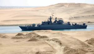 Iranian warship transits the Suez canal