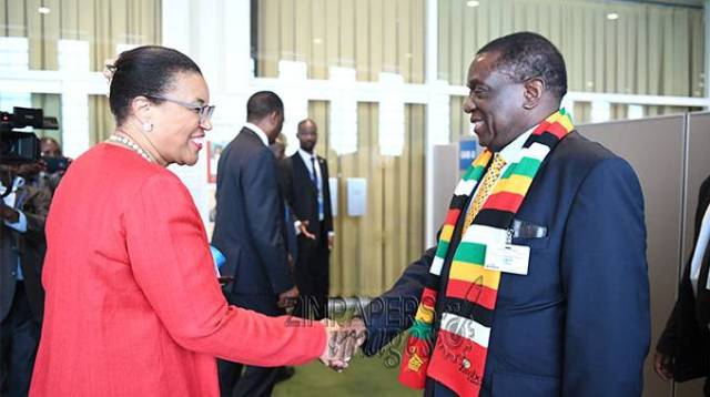 Zim re-joining C/wealth nigh . . . ED meets Secretary General . . . Satisfied with Zim reforms
