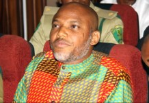 Nnamdi Kanu is leader of proscribed Indigenous People of Biafra (IPOB)