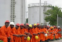 ExxonMobil says the blockade by ex-employees is costing Nigeria 550,000 barrel of oil daily