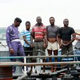 FILE: Some illegal oil bunkerers paraded by the Nigerian Navy