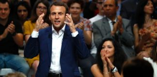Emmanuel Macron: likely to win French poll