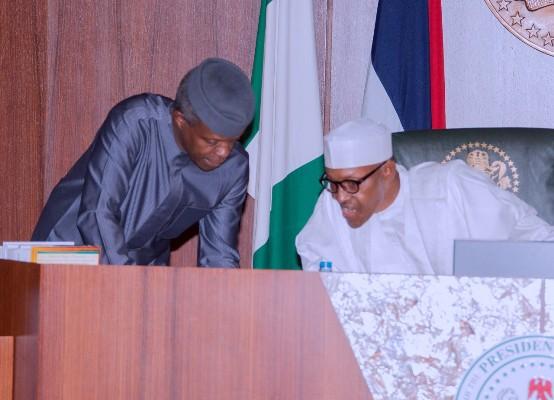 President Buhari and VP Osinbajo.