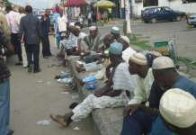 Beggars on the streets of Lagos