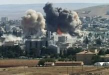 The syrian maternity hospital explodes