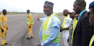 Minister of Aviation, Hadi Sirika says a British aircraft has been impounded