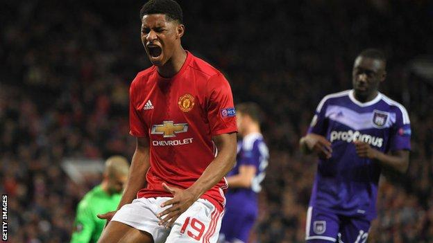 Marcus Rashford puts in a man of the match performance for United