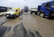 Bad roads in Apapa
