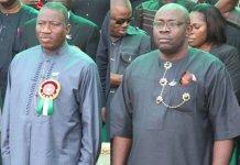Former president Jonathan and Gov Dickson