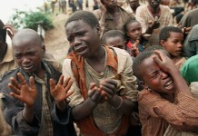 South Sudan children begging for survival