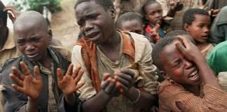 South Sudan children begging for survival