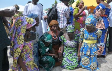 Rescued Chibok girls reunite with their parents in northern Nigeria
