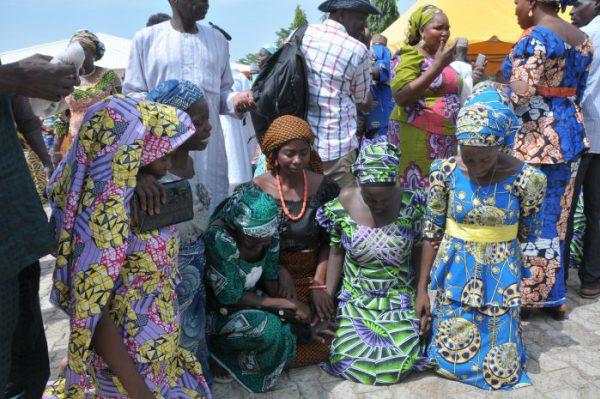 Rescued Chibok girls reunite with their parents in northern Nigeria