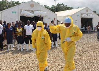 A Catholic priest in the town of Mbandaka has been infected with Ebola