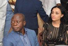 Adams Oshiomhole and his wife, Lara