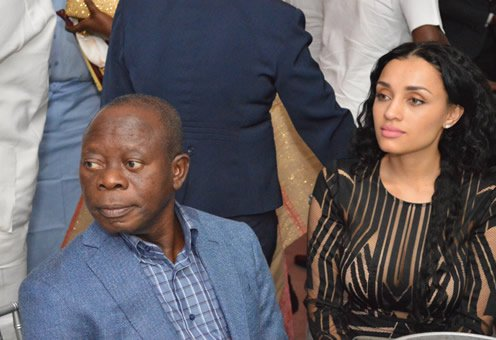 Adams Oshiomhole and his wife, Lara