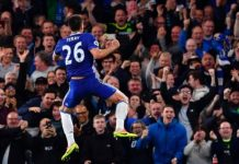 John Terry scored his 41st league goal for the club on his first start since September