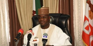Governor Yahaya Bello of Kogi State has donated N7 million to 11 churches