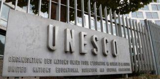 United Nations Educational, Scientific and Cultural Organisation (UNESCO) headquarters in Paris.