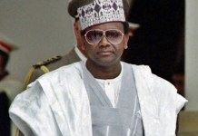 Late General Sani Abacha was a former dictator looted Nigeria's treasury to foreign countries