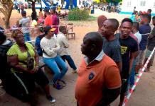 Liberians line up to cast votes