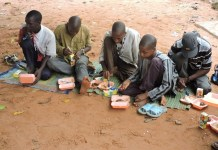 FILE PHOTO: Almajiri's in a Northern states in Nigeria are flocking to the South of the country