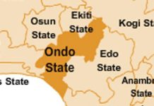 Ondo state on the map