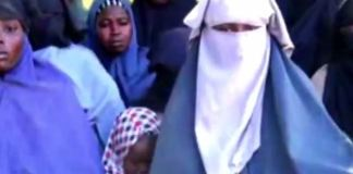 FILE: This is still photo from a video release by Islamist sect, Boko Haram, showing the remaining Chibok girls in their custody